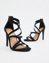 Sandali con vari listini e tacco alto