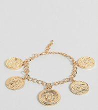 Bracciale spesso con catenina e monete
