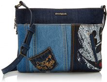 Desigual Bols_exotic Mickey Baqueira - Borse a tracolla Donna, Blu (Denim Dark Blue), 2x23x30.5 cm (B x H T)