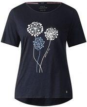 Cecil 312260, T-Shirt Donna, Blu (Deep Blue 30128), S