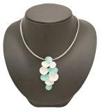 Ikita, colore: turchese argento e smalto colorato shatter-effect ovali Orecchini Dorp e collana pendente set–in confezione regalo