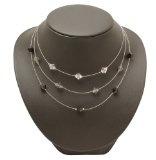 Bedazzled–Braccialetto Vintage collana con perline chiaro, Nero e Grigio, in confezione regalo