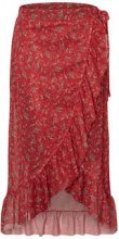 PIECES Printed Frill Skirt Women Red