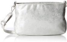 s.Oliver (Bags) Clutch - Pochette da giorno Donna, Argento (Silver), 4,5x18x26 cm (B x H T)