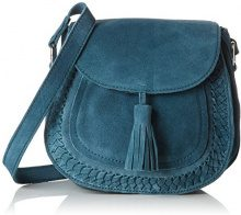 PIECES Pcfedori Suede Cross Body - Borse a tracolla Donna, Blu (Legion Blue), 10x20x23 cm (B x H x T)