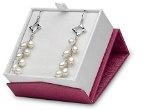 Kimura Pearls-4,0-argento, 4,5 mm, colore: bianco, a forma di goccia, perle d'acqua dolce coltivate, AA-Orecchini da donna a grappolo a forma di stella