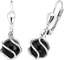 Amor 925 argento Rotonda nero Onice