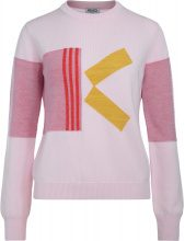 Maglione Kenzo in lana rosa con K a contrasto
