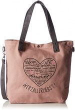 Adelheid Herzallerliebst Einkaufstasche - cartella Donna, Pink (Altrosa), 10x44x39 cm (L x H D)