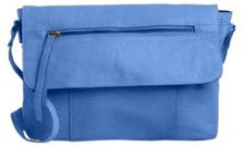 PIECES Leather Crossbody Bag Women Blue