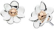 Dew 4085RG Orecchini a perno, a forma di anemone, in argento Sterling e con placcatura in oro rosa