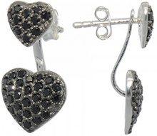 Melina–Orecchini da donna Vario–Duo orecchini con combinazione a forma di cuore zirconi argento 925–1500253