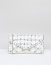 New Look - Pochette a busta con fiore 3D in paillettes