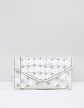 New Look - Pochette a busta con fiore 3D in paillettes
