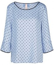 Marc Cain Additions KA 55.04 W08 Blusa Donna, Multicolore (Ash Blue 327) 46