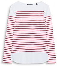 ESPRIT Collection 018eo1k003, Maglia a Maniche Lunghe Donna, Rosso (Berry Red 625), X-Large