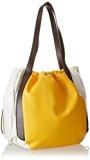 Pollini Sc4500Pp11Sf140A, borse Messenger Donna, Giallo/Bianco/Testa di Moro, 41 cm