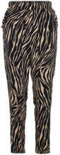 Y.A.S Zebra Printed Trousers Women Black