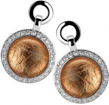Orphelia–Parure da donna: collana + Orecchini in argento Sterling 925con zirconi, argento, colore: rose gold, cod. SET-5202/1