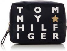 Tommy Hilfiger Poppy Wash Bag Logo Print - Pochette da giorno Donna, Blu (Logo Print), 9.5x19.5x14 cm (B x H x T)