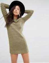 Boohoo - Vestito maglia con lavorazione ondulata