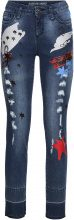 Jeans skinny con toppe