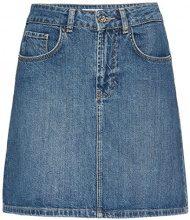 FIND Minigonna di Jeans Donna, Blu, 42 (Taglia Produttore: Small)