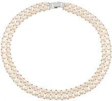 Pearls & Colors PC-CCN25 - Collana multifilo, in argento 925, perle d'acqua dolce, 40 cm