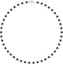 Pearls & Colors Collana di perle Donna argento 925_argento perla rotonda - AM17-COL-AG-R45-M-WHBL