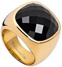Tamaris Donne-anello acciaio vetro Simona Nero, acciaio inossidabile, 20, colore: Gold/Schwarz, cod. A03711058