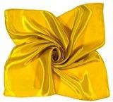 Bees Knees Fashion - Sciarpa - Sciarpa Quadrata Di Seta Gialla Piccola Gialla