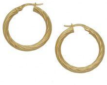 E-10033 - Orecchini a cerchio da donna, oro giallo 9k (375)