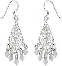 E-11386 - Orecchini pendenti da donna, argento
