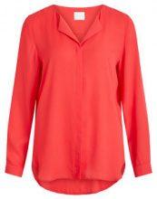 VILA Feminine, Simple Shirt Women Red