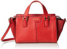 Calvin Klein Jeans Shari Micro Tote, Sacchetto Donna, Rosso (Fiery Red 601), 9x13x25 cm (B x H x T)