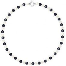 Pearls & Colors Collana di perle Donna argento 925_argento perla rotonda - AM17-COL-AG-R67-AML-WHBL