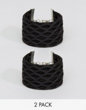 ASOS - Confezione da 2 bracciali in rete