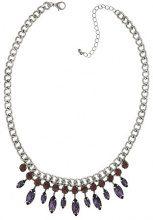 1928 Jewelry Orecchini, argento, ametista, colore: viola con cristalli e Navette 40,64 cm (16