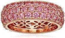 La Lumiere Donna placcato oro Rotonda trasparente Zirconia cubica