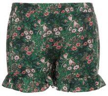 Shorts con ruche & motivo a fiorellini