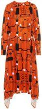 P O S T Y R Graphic Print Dress Women Orange