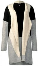 Street One Long Colorblock, Cardigan Donna, Grau (Cyber Grey Melange 30767), 48 (Taglia produttore: 42)