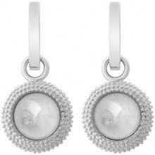 ORPHELIA dreambase-orecchini 925 argento rodiato vetro taglio rotondo bianco - ZO-6041