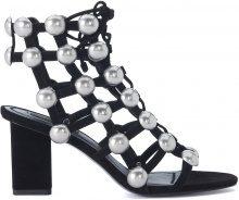 Sandalo con tacco Alexander Wang Rainey in pelle nera con borchie
