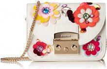 FURLA Metropolis Clivia Mini Crossbody - Borse a tracolla Donna, Bianco (Petalo), 5x17x20 cm (B x H T)