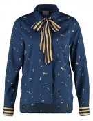 VMBIRDY - Camicia - navy blazer/bird print harvest gold