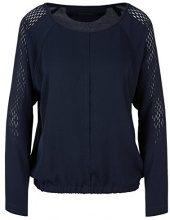 Marc Cain Sports KS 55.01 W41, Blusa Donna, Mehrfarbig (Space Blue 393), 48
