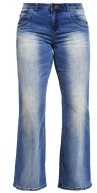 ANNA - Jeans a zampa - blue denim
