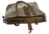 donna Borse a mano Borsa annata a tracolla in tela stile militare 43x43x10 cm 1694