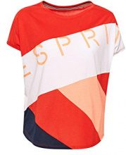 ESPRIT Sports 048ei1k008, T-Shirt Donna, Rosso (Orange Red 635), 44 (Taglia Produttore: Medium)